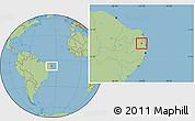 Savanna Style Location Map of Aracagi