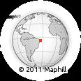 Outline Map of Aracagi