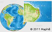 Physical Location Map of Araruna