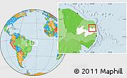 Political Location Map of Araruna, highlighted parent region