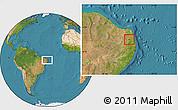 Satellite Location Map of Araruna