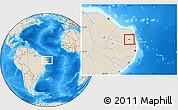 Shaded Relief Location Map of Araruna