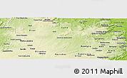 Physical Panoramic Map of Barra de S. Rosa