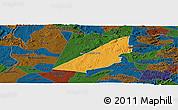 Political Panoramic Map of Barra de S. Rosa, darken