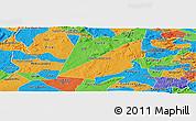 Political Panoramic Map of Barra de S. Rosa