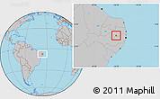 Gray Location Map of Barra Sao Miguel