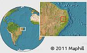 Satellite Location Map of Barra Sao Miguel