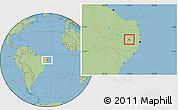 Savanna Style Location Map of Barra Sao Miguel