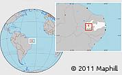 Gray Location Map of Boa Ventura, highlighted parent region