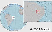Gray Location Map of Boa Ventura, hill shading