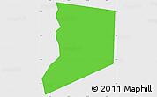 Political Simple Map of Boa Ventura, single color outside