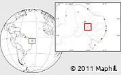 Blank Location Map of Bonito de Sta.Fe