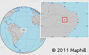 Gray Location Map of Bonito de Sta.Fe