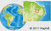 Physical Location Map of Bonito de Sta.Fe