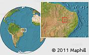 Satellite Location Map of Bonito de Sta.Fe