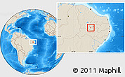 Shaded Relief Location Map of Bonito de Sta.Fe