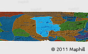 Political Panoramic Map of Boqueirao, darken