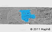 Political Panoramic Map of Boqueirao, desaturated