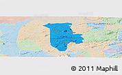 Political Panoramic Map of Boqueirao, lighten
