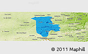 Political Panoramic Map of Boqueirao, physical outside