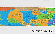 Political Panoramic Map of Boqueirao