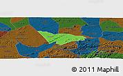 Political Panoramic Map of Camalau, darken
