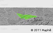 Political Panoramic Map of Camalau, desaturated