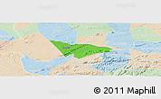 Political Panoramic Map of Camalau, lighten