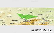 Political Panoramic Map of Camalau, physical outside