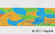 Political Panoramic Map of Camalau