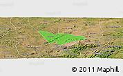 Political Panoramic Map of Camalau, satellite outside