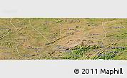 Satellite Panoramic Map of Camalau
