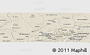 Shaded Relief Panoramic Map of Camalau