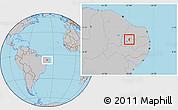 Gray Location Map of Condado