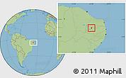 Savanna Style Location Map of Condado