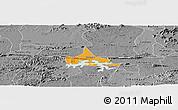 Political Panoramic Map of Coremas, desaturated