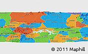 Political Panoramic Map of Coremas