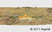 Political Panoramic Map of Coremas, satellite outside