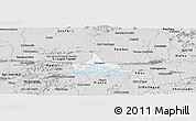 Silver Style Panoramic Map of Coremas