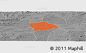 Political Panoramic Map of Gurjao, desaturated