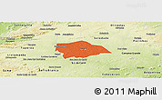 Political Panoramic Map of Gurjao, physical outside