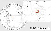 Blank Location Map of Itaporanga