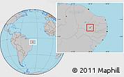 Gray Location Map of Itaporanga