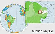 Political Location Map of Itaporanga, highlighted parent region