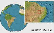 Satellite Location Map of Itaporanga