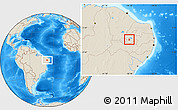 Shaded Relief Location Map of Itaporanga