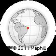 Outline Map of Juazeirinho