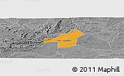 Political Panoramic Map of Juazeirinho, desaturated