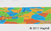 Political Panoramic Map of Juazeirinho
