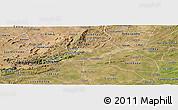 Satellite Panoramic Map of Juazeirinho